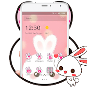 Cute White Rabbit Theme
