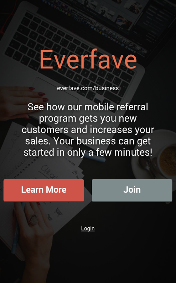 Everfave for Businesses- screenshot