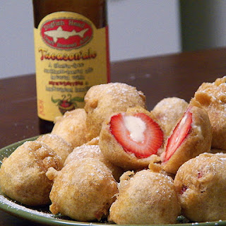 Deep-Fried Cheesecake-Stuffed Strawberries