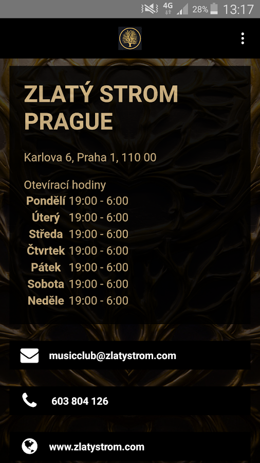 Zlatý Strom Prague- screenshot