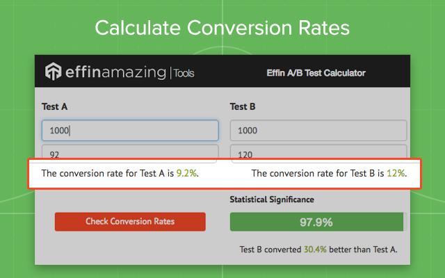 Effin A/B Test Calculator