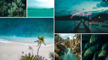 Sweet Escape - Zoom Background Template