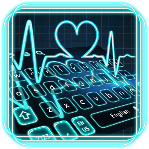 Neon Blue Heart Theme