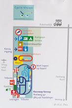 Photo: De plattegrond van het terrein.