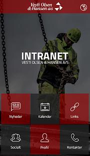 VOH intranet - náhled