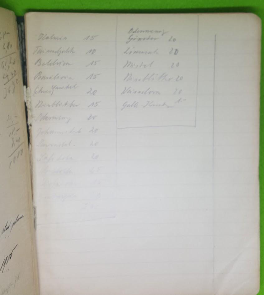 Einleitung in die Chemie - Notizbuch - Gustav Lange - 8.8.1905