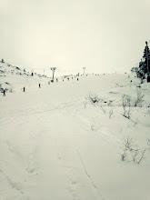"""Photo: Der Lift war offen und Ski schnell ausgeliehen. Maik und Rene testeten den """"bakken""""."""