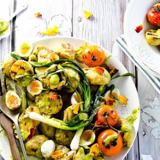 Grilled Potato Salad with Scallion Pesto