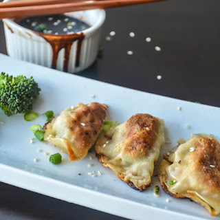 Mushroom Tofu Veggie Potstickers