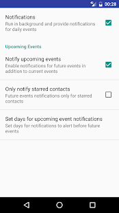 Contact Events & Birthdays - náhled