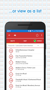 Live London Bus Track Arrivals- screenshot thumbnail
