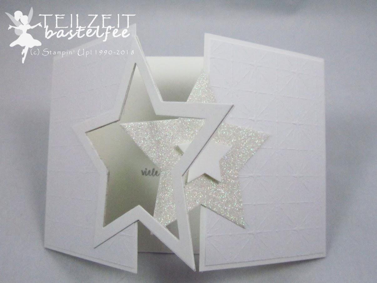 Stampin' Up! - Inkspire_me, Christmas Special, Weihnachten, Weiß, White, Stars, Sterne, Weihnachtskarte, Cookie Cutter Christmas, Ausgestochen Weihnachtlich