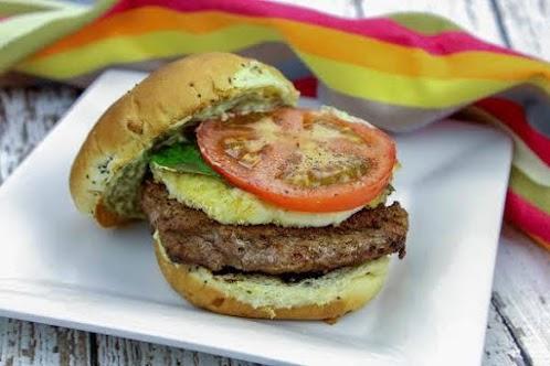 Sweet Balsamic Glaze Caprese Burger