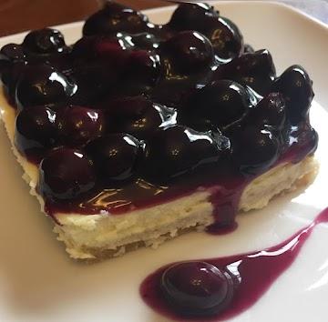 Easy Blueberry Cheesecake  Lemon Cookie Bars Recipe