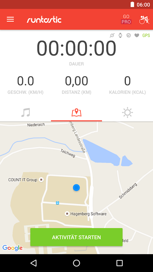 Runtastic Road Bike Rennrad – Screenshot