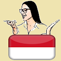Learn Indonesian by voice and translation icon