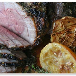 Garlic, Herb and Lemon Roasted Leg of Lamb