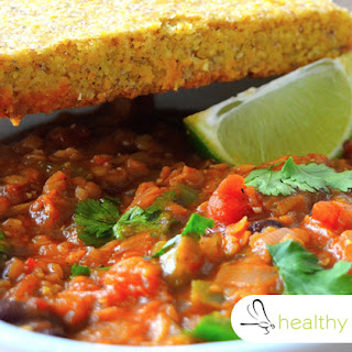 Lentil Kidney Bean Chili with Garlic, Apple Cider Vinegar and Cumin