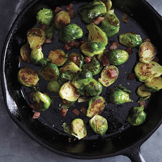 Charred Brussels Sprouts with Pancetta and Fig Glaze Recipe | Epicurious.Com Recipe