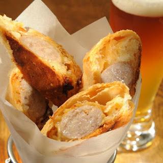 Bratwurst Reuben Rolls