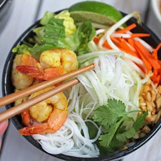 Vietnamese Vermicelli, Shrimp & Cucumber Bowl