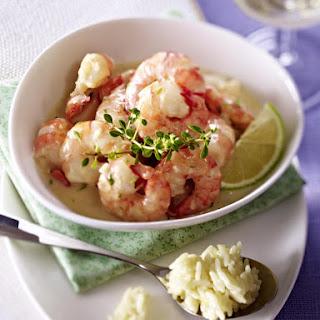 Jumbo Shrimp with Coconut Rice.