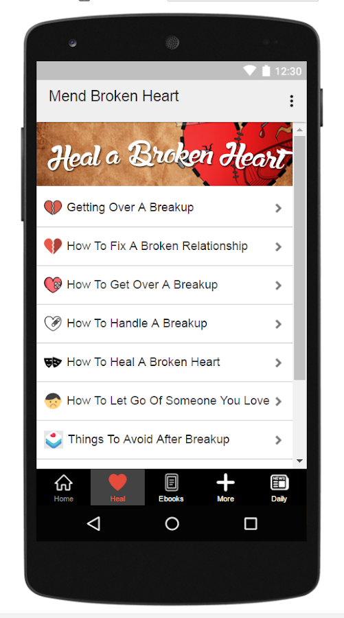 How can you mend broken heart android apps on google play how can you mend broken heart screenshot fandeluxe PDF