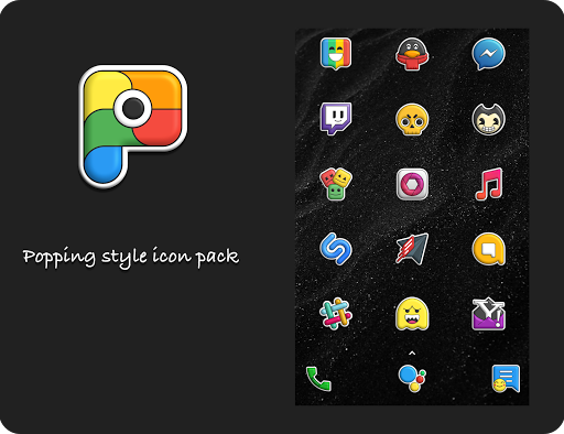 Screenshot for Poppin icon pack in United States Play Store
