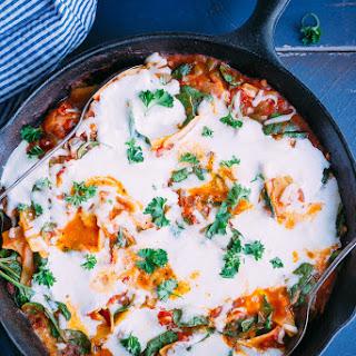 Healthier One Pan Stove Top Lasagna.