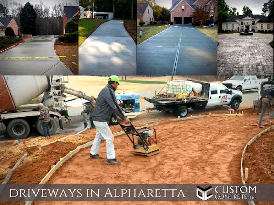 concrete driveways in Alpharetta, GA
