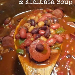 Hearty Four-Bean & Kielbasa Soup