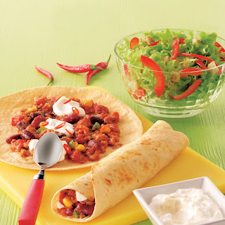 Tortillas mit feurigem Chili