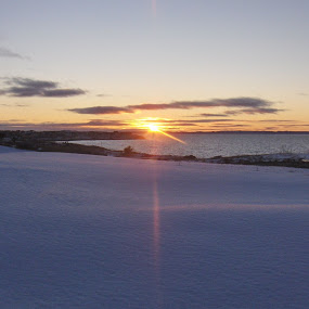 Sunset on Conception Bay by Paul Hussey - Landscapes Beaches