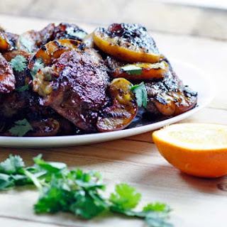 Spice Rubbed Chicken Thighs With Grilled Peaches
