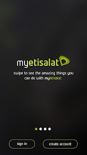 myetisalat app- screenshot thumbnail