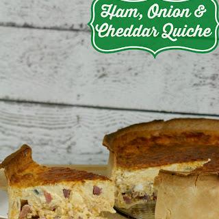 Ham, Onion & Cheddar Quiche