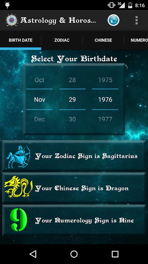 Zodiac dating app