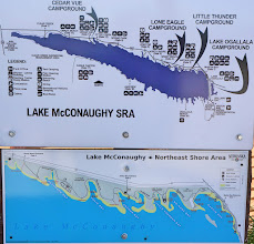 Photo: Lake Mcconaughy, formed by Kingsley Dam, is a man-made body of water that is 22 miles long, 4 miles wide at its largest point, and 142 feet deep near the dam (at full capacity). It was constructed between 1936 and 1941 and is fed by the North Platte River. When full, the reservoir has a capacity of 1,740,000 acre feet, covers 35,700 acres and has 76 miles of shoreline, making it the largest reservoir in Nebraska.