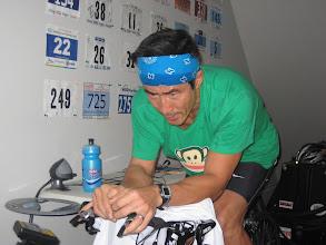 Photo: Joe doing the CP30 test