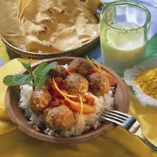 Meatball Curry with Rice.