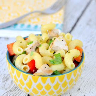 Grilled Lemon Chicken Pasta Salad