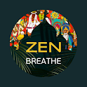 Zen breathing, prana, antistress, relaxing icon