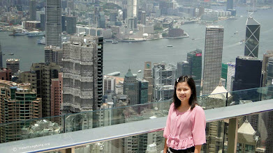 """Photo: """"The Peak"""" view of Victoria Harbour Hong Kong"""