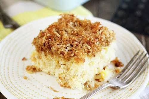 """Pineapple Cake with Coconut Crumb Topping """"And let me tell you, I..."""