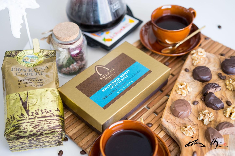 アウラニ マカダミアハニーチョコレート&ロイヤルコナコーヒー