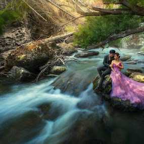 Otago Streams by Zhuo Ya - Wedding Bride & Groom ( zhuoya, stream, prewedding, wedding, bride and groom, bride, zhuoya photography, new zealand )