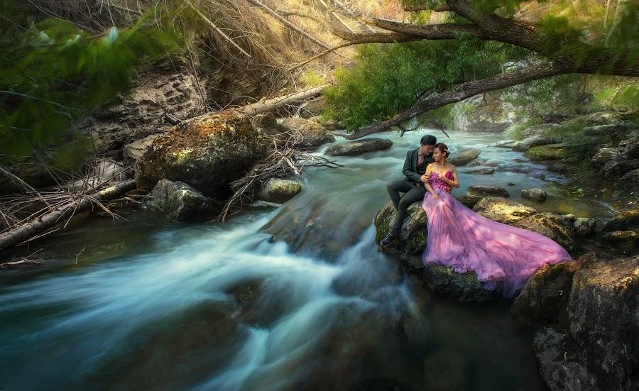 Otago Streams by Zhuo Ya - Wedding Bride & Groom ( zhuoya, stream, prewedding, wedding, bride and groom, bride, zhuoya photography, new zealand )