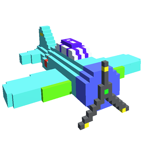 Planes 3D Color by Number: Voxel Vehicles Coloring Icon