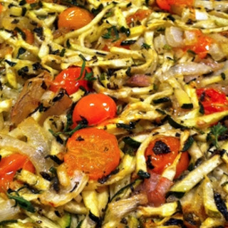Baked Zucchini (Australian Courgette) with Tomatoes and Herbs – Veggie Dish.