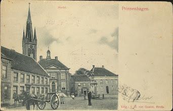 Photo: 1903 Roode Hert, gemeentehuis met daar achter de St. Martinuskerk